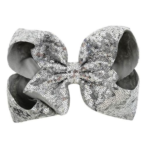 "inSowni 8"" Big Large Glitter Bow Hair Clips Barrettes for Baby Girl Toddlers Kids-Baby Girl Hair Clips-inSowni"