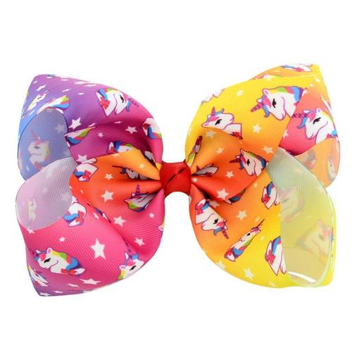 "inSowni 8"" Big Large Unicorn Bow Hair Clips Barrettes for Baby Girl Toddlers Kids-Baby Girl Hair Clips-inSowni"