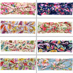 inSowni 8PCS/Lot Floral Flower Headband Bulk for Baby Girl Kids Toddlers Hair Accessories Headwear Bands-Baby Girl Headbands-inSowni