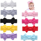 inSowni 9PCS/Lot Solid Bunny Ear Headband Bulk for Baby Girl Kids Toddlers Hair Accessories Headwear Bands-Baby Girl Headbands-inSowni