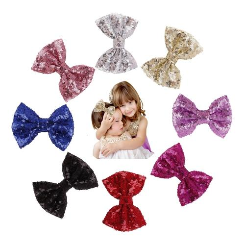 inSowni Alligator Hair Clips Glitter Bow Barrettes for Baby Girl Toddlers Kids Women-Baby Girl Hair Clips-inSowni
