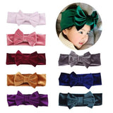 inSowni Boutique Stretch Bows Ears Headband Set for Baby Girl Kids Newborn (8 PCS Pack S31)-Baby Girl Headbands-inSowni