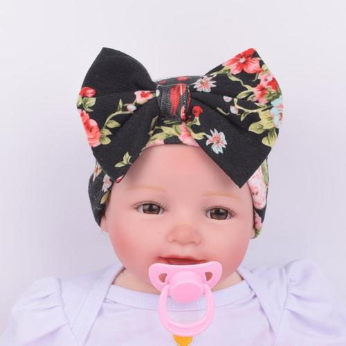 inSowni Cotton Hospital Nursery Hat Cap Bonnet Beanie with Bow for Newborns Baby Girls-baby girl hat-inSowni