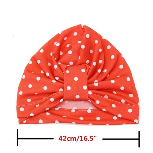 inSowni Fashion Polka Dot Toddler Kids Children Newborn Baby Girl Hospital Turban Hat Cap Headdress Hair Accessories-baby girl hat-inSowni