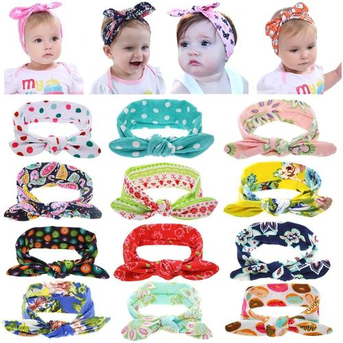 inSowni Floral Halloween Knot Bunny Ears Bow Headbands Hair Bands Turban Headwrap Accessories for Baby Girls Toddlers Kids-Headbands-inSowni