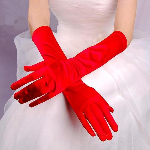inSowni Girl Women Ladies Sexy Long Evening Party Prom Wedding Opera Satin Gloves-Wedding & Party-inSowni