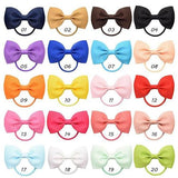 inSowni Grosgrain Ribbon Bow Elastics Hair Ties Bands Rings Scrunchies Ponytail Holders Accessories for Baby Girls Toddlers Kids-Hair Ties-inSowni