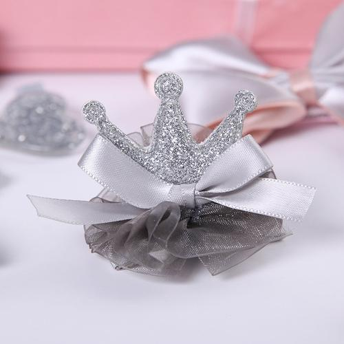 inSowni Kids Baby Girl Alligator Hair Clip Bow 10 Pack Set with Gift Box (10 PCS Gray Set)-Baby Girl Hair Clips-inSowni