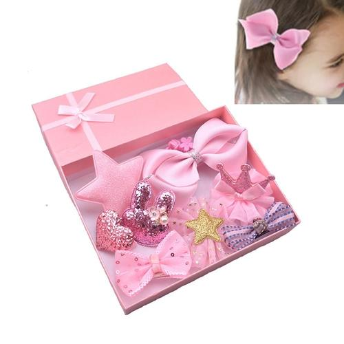 be450a4b93 inSowni Kids Baby Girl Alligator Hair Clip Bow 10 Pack Set with Gift Box  (10 PCS Pink Set)
