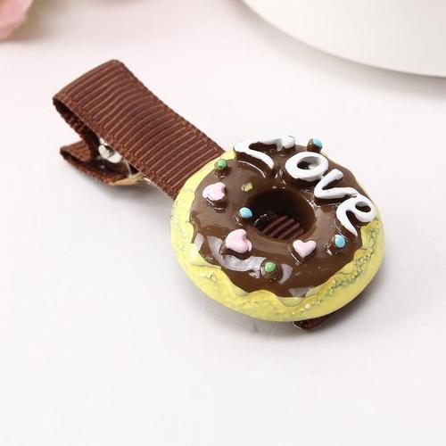 Kids Baby Girls Cute Lovely Toddler Fruit Biscuit Hair Clips Alligator Grip Snap U Shape Bobby Pin Barrettes Claw Hair Holder-Hair Pins-inSowni