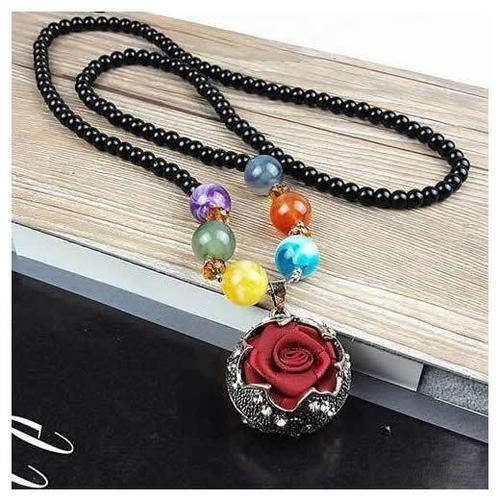 Retro Sweater Chain Lady Women Girls Crystal Long Chain Necklace Pendant Vintage Jewelry Gift-Women Necklaces-inSowni