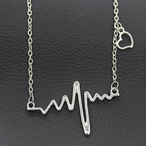 a504880abf556 Women Girls Alloy Necklace Thunder Lightning Gold Silver Pendant Vintage  Jewelry Choker Chunky Chain