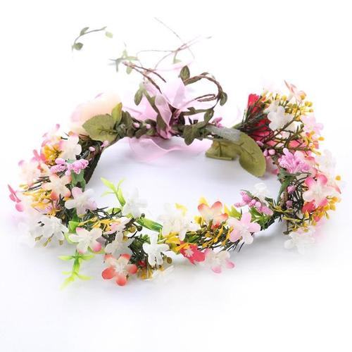Women Girls Bridal Bridesmaid Wedding Prom Hawaii Party Flower Headbands Hair Bands Wreath Crown Garland Tiara Headpiece-Tiaras-inSowni