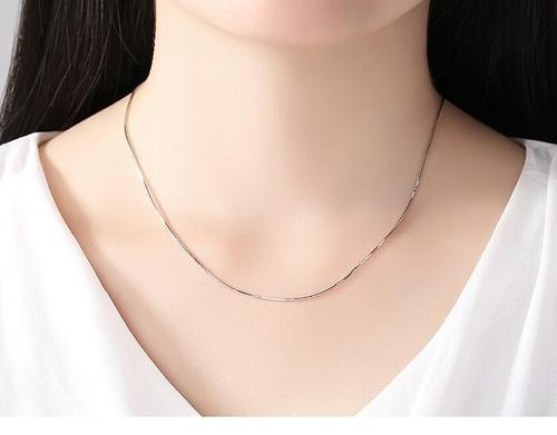 Women Girls Bulk Solid 925 Sterling Silver Classic Necklace Jewelry Plated Chain Unisex Fashion Gift-Women Necklaces-inSowni