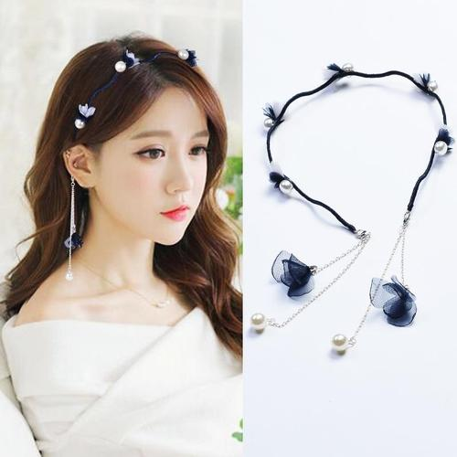 Women Girls Kids Headbands Pearl Rhinestone Flower Earrings Ear Studs Hoops Hair Hoops Hairband Headbands Accessories-Hair Hoops-inSowni