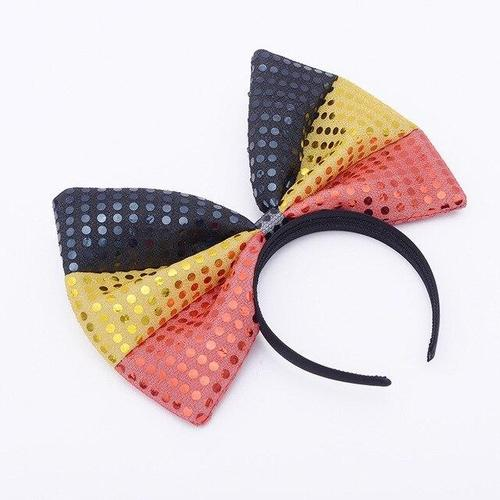 Women Girls Large Big Bowknot Hair Hoop Headband Hair Band Bow Party Festival Club Costume-Hair Hoops-inSowni