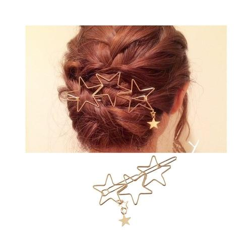 Women Lady Girl Korean Fashion Bowknot Oval Circle Moon Star Pearl Hair Clip Snap Barrette Comb Stick Claw Crab Clamp Hairpin-Women Hair Clips-inSowni