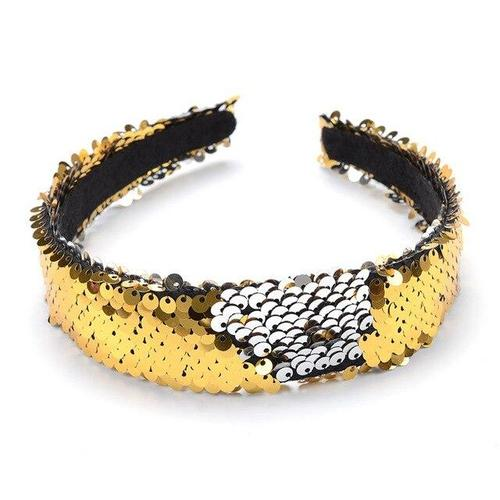 Women Lady Girl Reversible Flip Sequins Glitter Sparkly Hair Hoop Headband Hairband Accessories Party Costume-Hair Hoops-inSowni