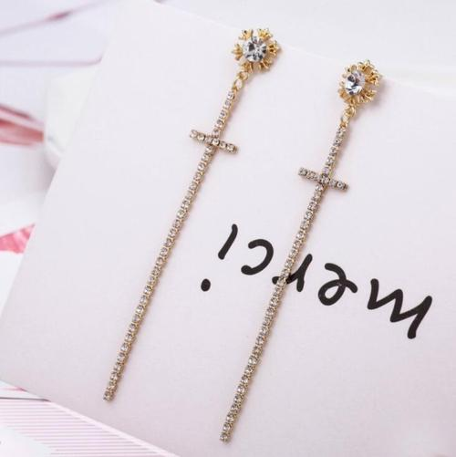 Women Lady Girls Alloy Earings Crystal Pearl Party Club Ear Stud-Women Earrings-inSowni