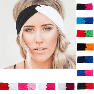 Women Lady Girls Black Blue Red Gray Hot Pink Yellow Headbands Hairband Headwrap Hair Bows Sports GYM Running Yoga-Women Headbands-inSowni