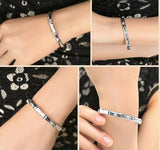 Women Men 999 Silver Bracelet Bamboo Joint Shape Bangles For Girls Sterling Valentine's Day Gift-Women Necklaces-inSowni