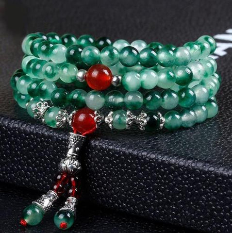 Women Multilayer Beads Jade Emerald Bracelet Girls Men Bangles Wristband Handmade Jewelry Gift-Women Bracelet-inSowni