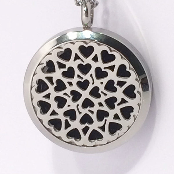 Aromatherapy Diffuser Locket (Pendant) Small Hearts