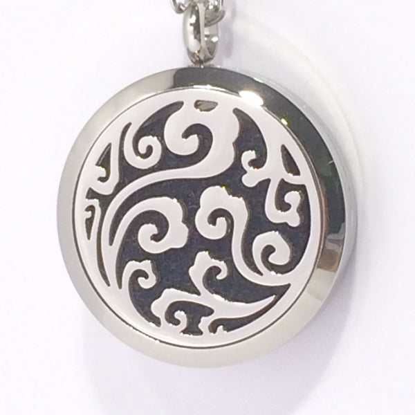 Aromatherapy Diffuser Lockets (Pendant) Cloud Swirls