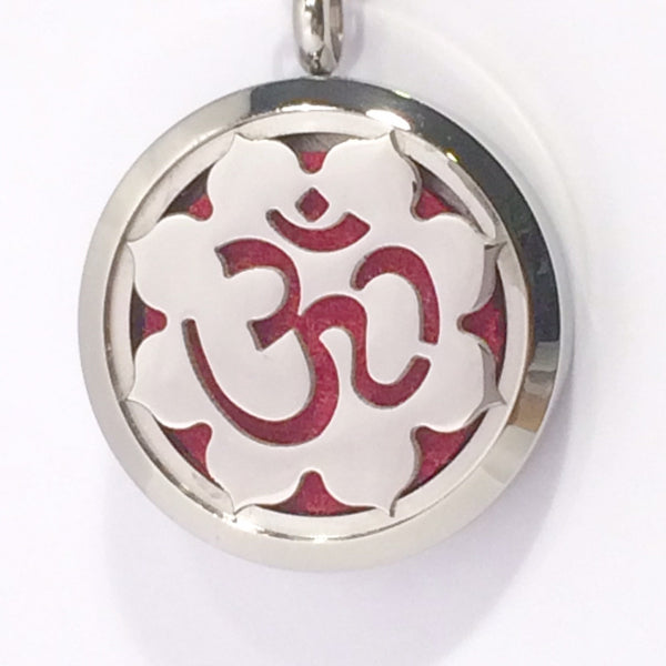 Aromatherapy Diffuser Lockets (Pendant) OM In Lotus