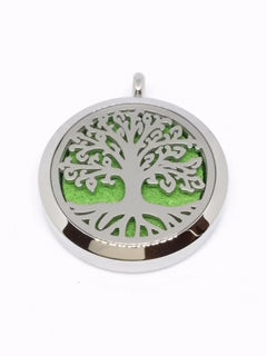 Aromatherapy Diffuser Locket (Pendant) Tree Of Life w/Roots 30mm