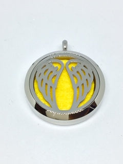 Aromatherapy Diffuser Locket (Pendant) Angel Wings 30mm