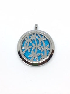 Aromatherapy Diffuser Locket (Pendant) Branches & Leaves 30mm
