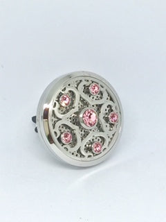 Aromatherapy Car Diffuser Crystal Pink 38mm