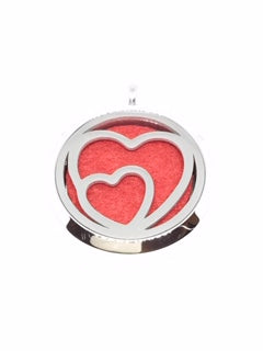 Aromatherapy Diffuser Locket (Pendant) Twin Hearts 30mm