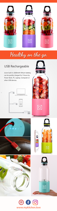 Exclusive Portable Electric Blender and Juicer
