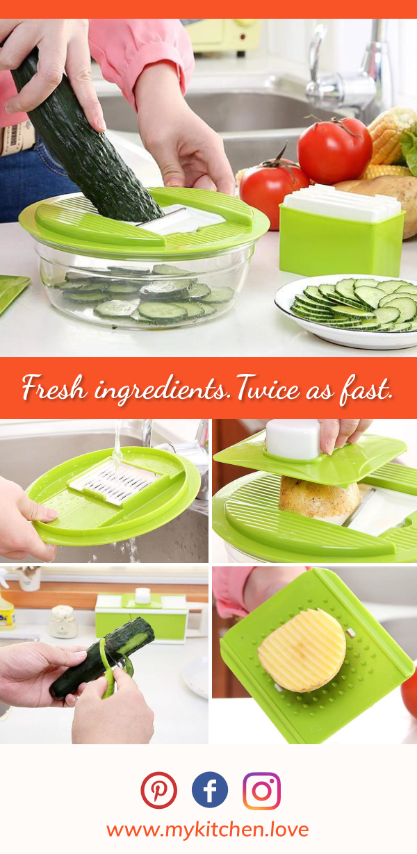 Essential 5-in-1 Vegetable Shredder