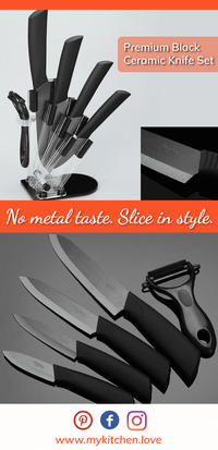 Premium Black Ceramic Knife Set