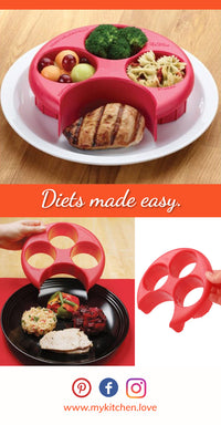 Wondering how to lose weight? One of the key things to track is your daily portion control, how much you eat in terms of food proportions at every meal. Your plate nutrition is as important as the exercise your are doing and is necessary to a well balanced meal plan. Our portion controller is the go to serving tool to manage your healthy meals on a budget to lose weight. Discover the answer to the age old question of what is a serving size.