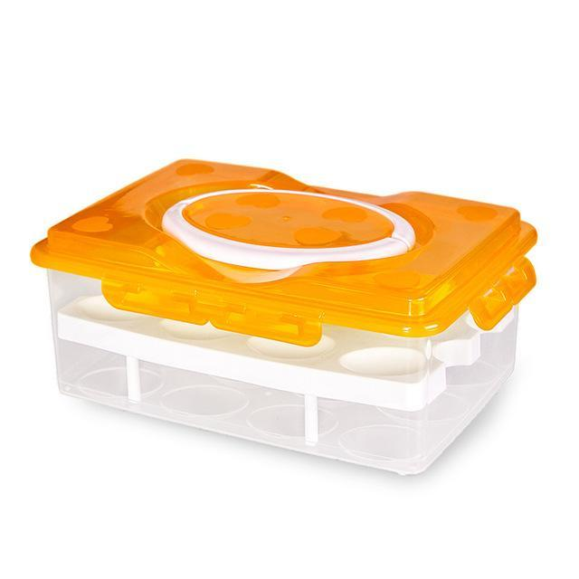 Deluxe Double Layered Egg Container