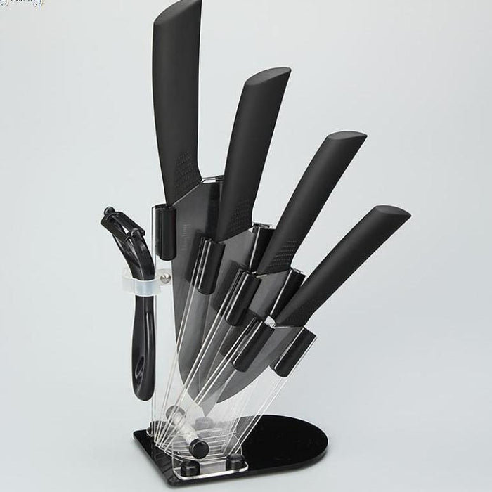 Spice up your cooking techniques with the best knife set for chopping vegetables. These premium black ceramic knives are ideal to ramp up your basic cutting techniques into truly chef knife skills. Whether you are preparing sliced vegetables or sharpening your ceramic toolkit, this is a set your homemade cooking will love.