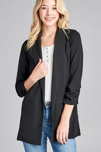 Boyfriend Blazer in Black