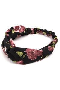 Rose Knot Fabric Headband