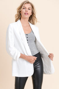 Boyfriend Blazer in White