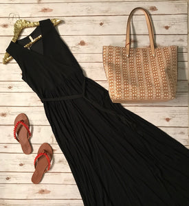 Black Wrap Maxi Dress