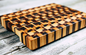 Kaleidoscope #86 - Everwood endgrain, Cutting Boards - End grain butcher block cutting board, Everwood Handcrafts - Everwood Handcrafts