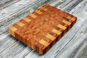 American Beech - Everwood endgrain, Cutting Boards - End grain butcher block cutting board, Everwood Handcrafts - Everwood Handcrafts