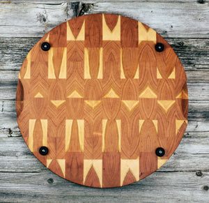 Round Cherry #122 - Everwood endgrain, Cutting Boards - End grain butcher block cutting board, Everwood Handcrafts - Everwood Handcrafts