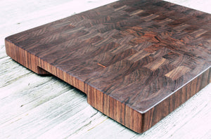 Black Walnut #99 - Everwood endgrain, Cutting Boards - End grain butcher block cutting board, Everwood Handcrafts - Everwood Handcrafts