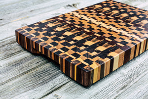 Kaleidosocope - Everwood endgrain, Cutting Boards - End grain butcher block cutting board, Everwood Handcrafts - Everwood Handcrafts