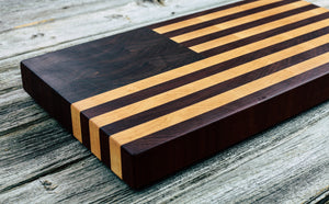 American Flag #70 - Everwood endgrain, Cutting Boards - End grain butcher block cutting board, Everwood Handcrafts - Everwood Handcrafts